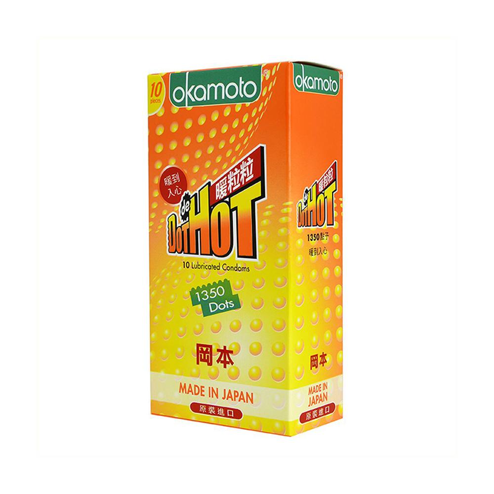 Bao cao su Okamoto Dot de Hot gai nóng truyền nhiệt nhanh, Hộp 10 cái