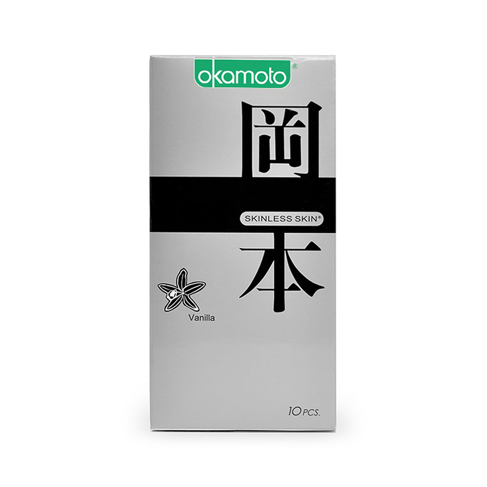 Bao cao su Okamoto Skinless Skin Vanilla, Hộp 10 cái