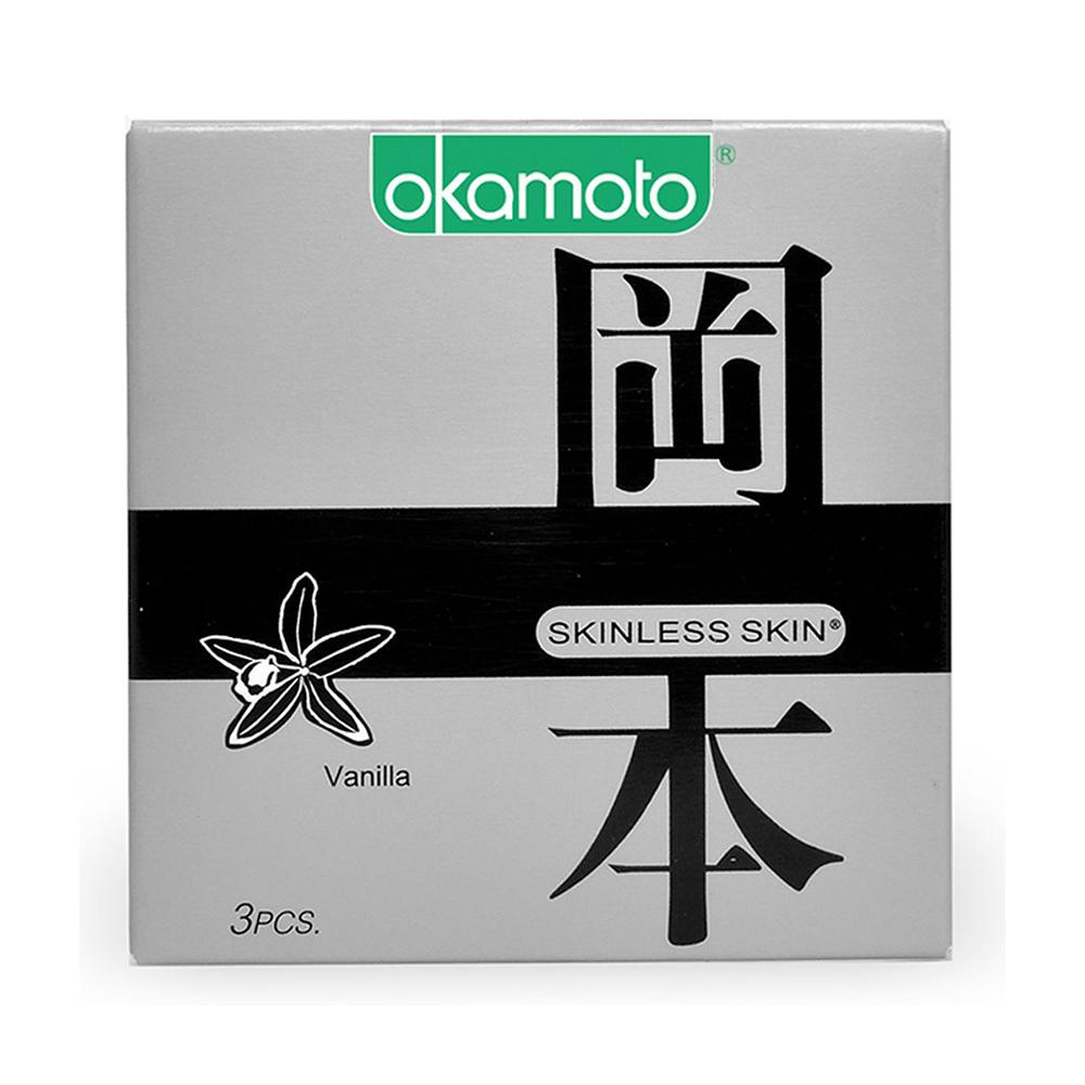 Bao cao su Okamoto Skinless Skin Vanilla, Hộp 3 cái