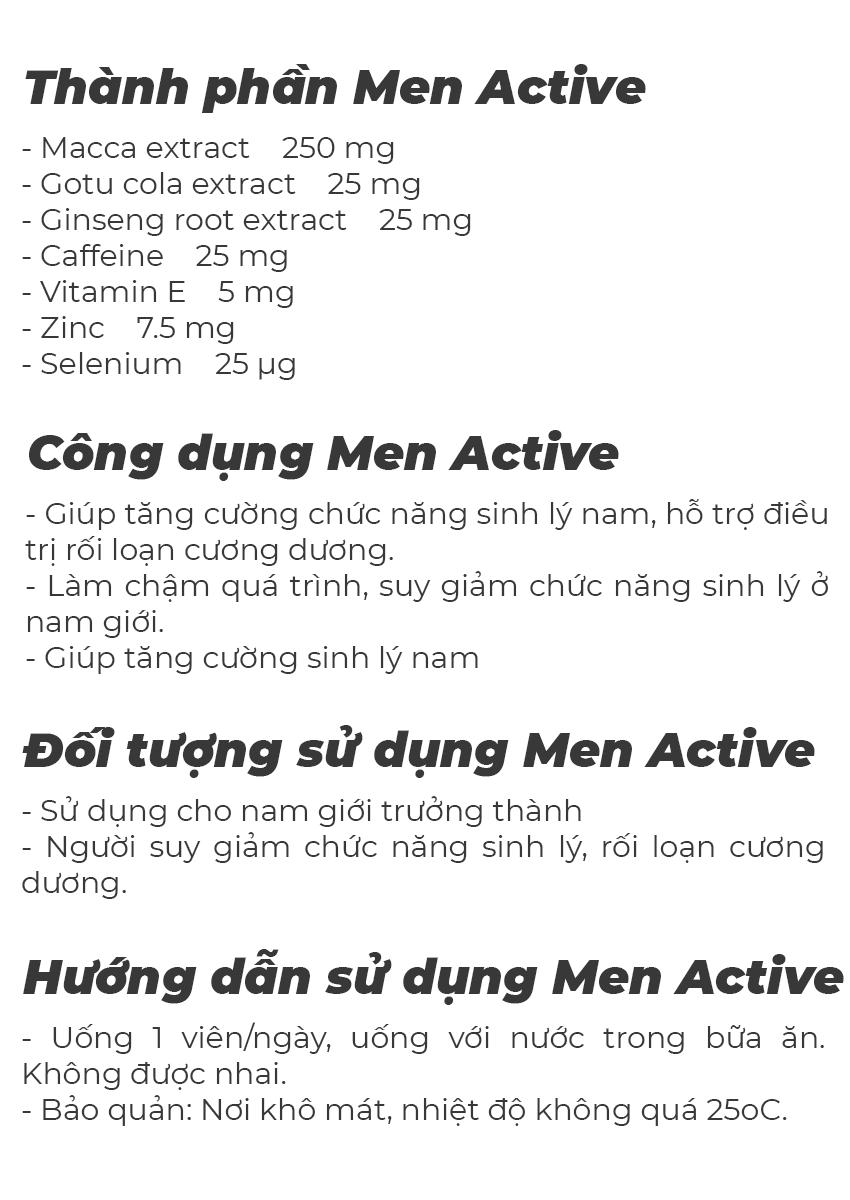 Doppelherz Men Active tăng cường sinh lý nam