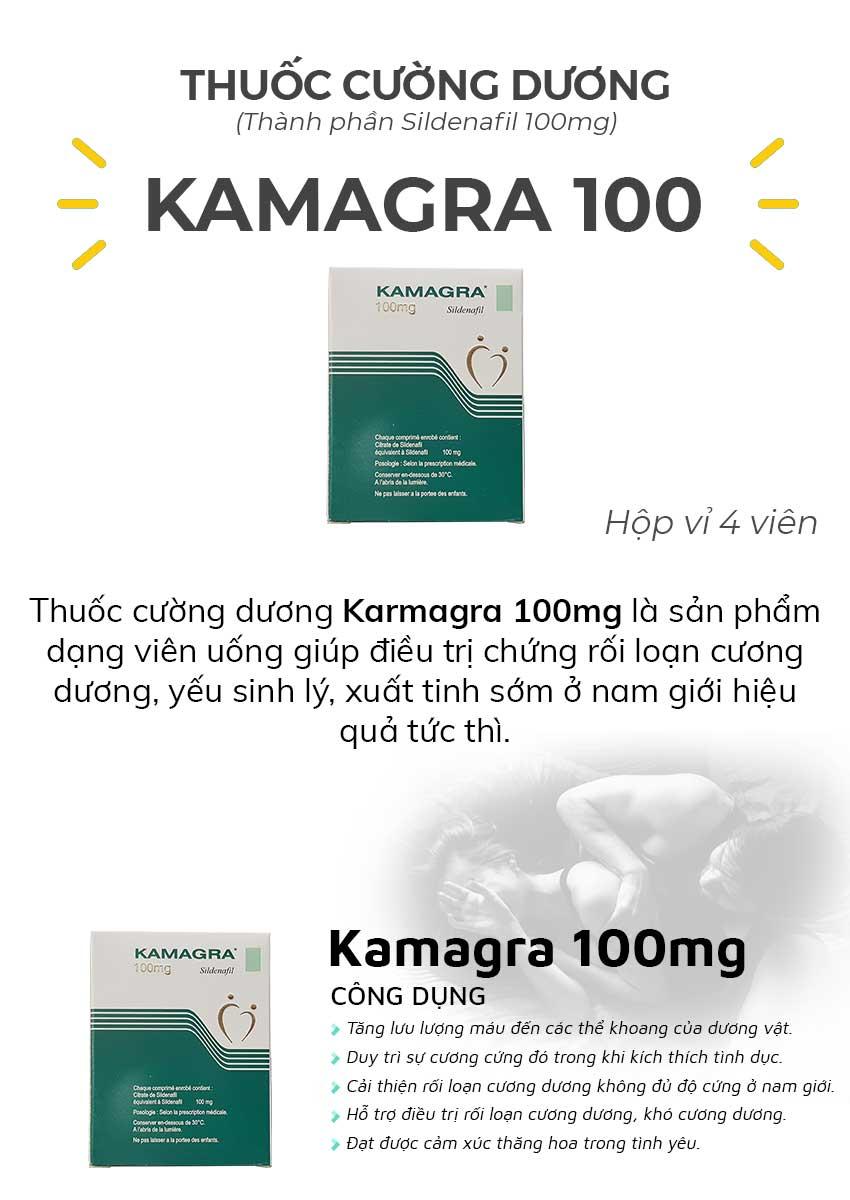 Thuốc cường dương Karmagra 100mg và công dụng