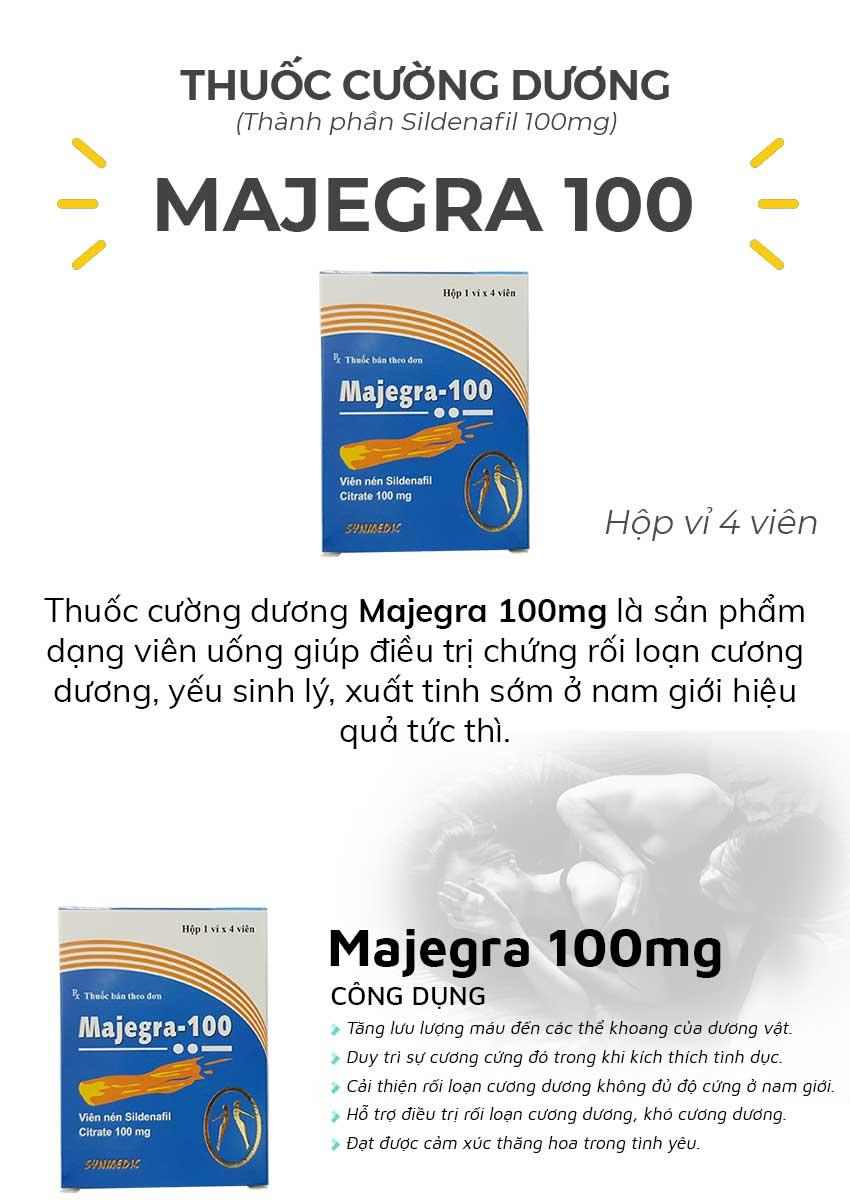 Thuốc cường dương Majegra 100mg và công dụng