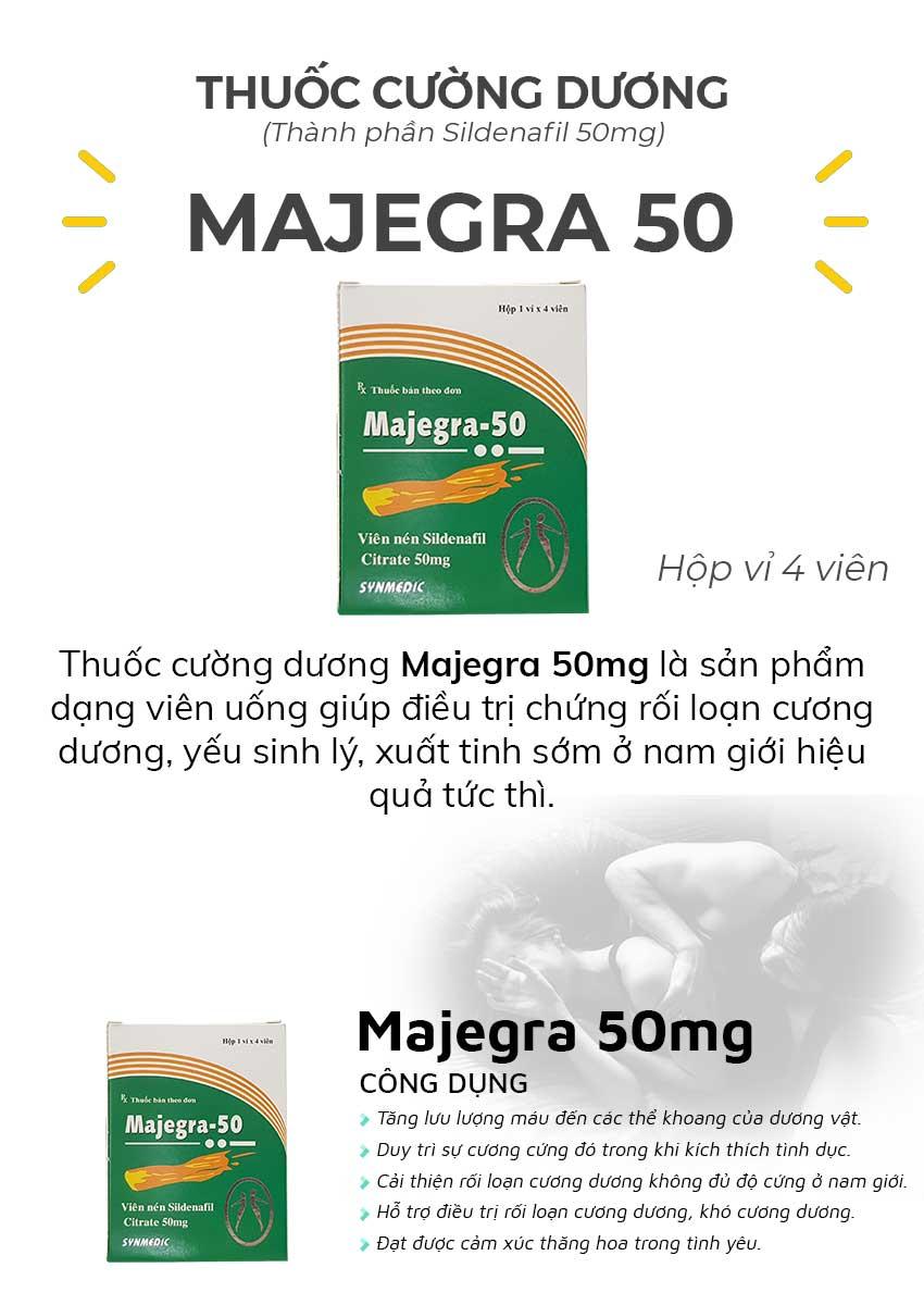 Thuốc cường dương Majegra 50mg và công dụng