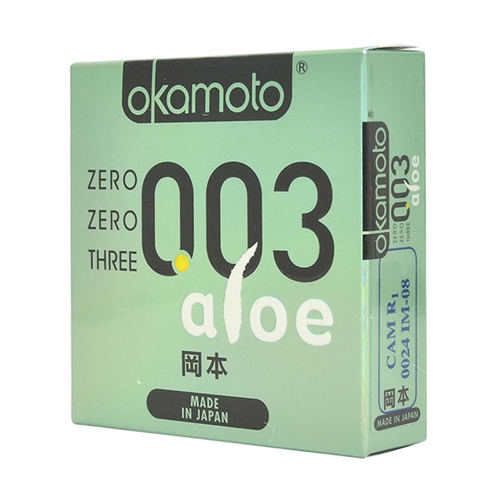 Bao cao su Okamoto 003 Aloe