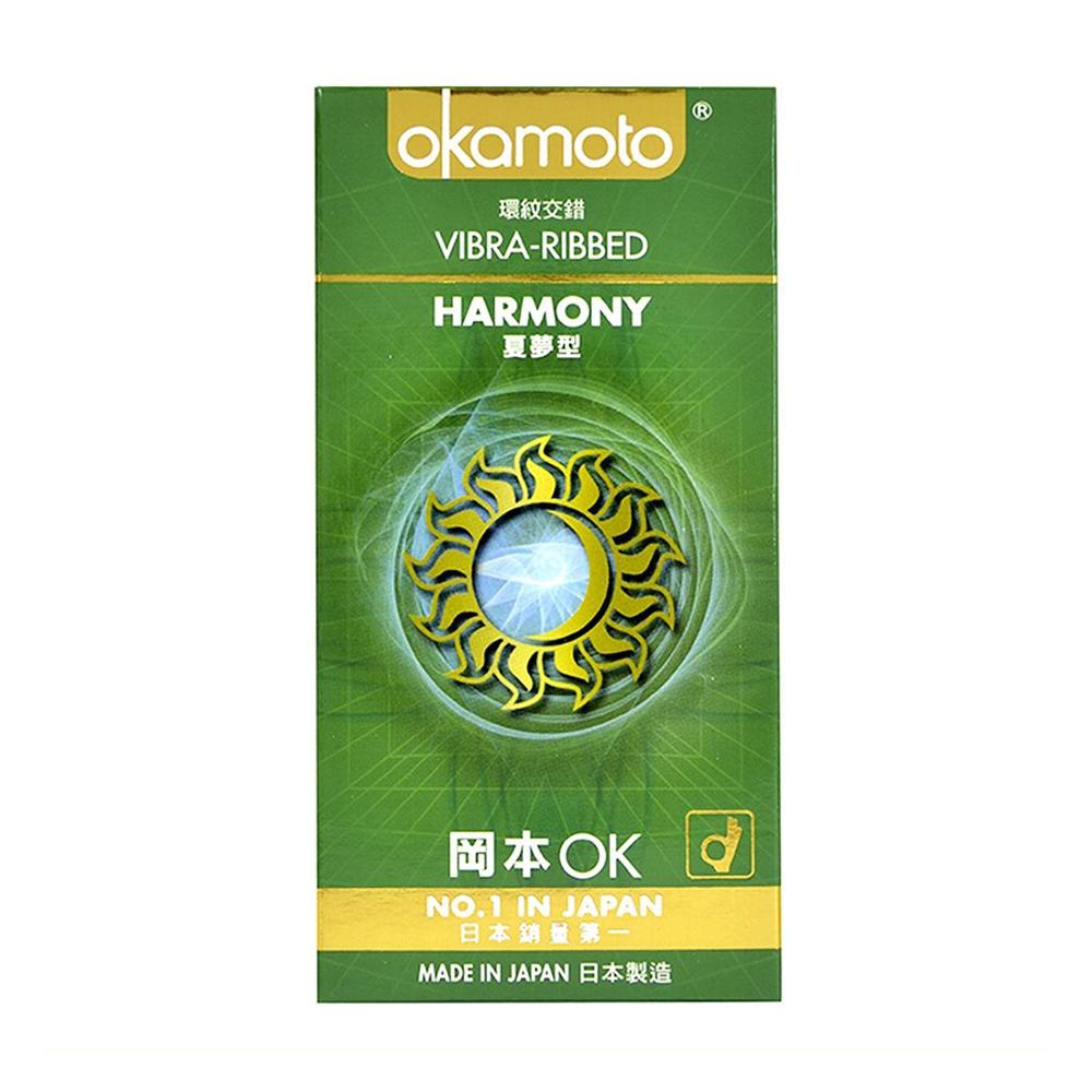Bao cao su Okamoto Harmony gân sọc tăng khoái cảm, Hộp 10 cái