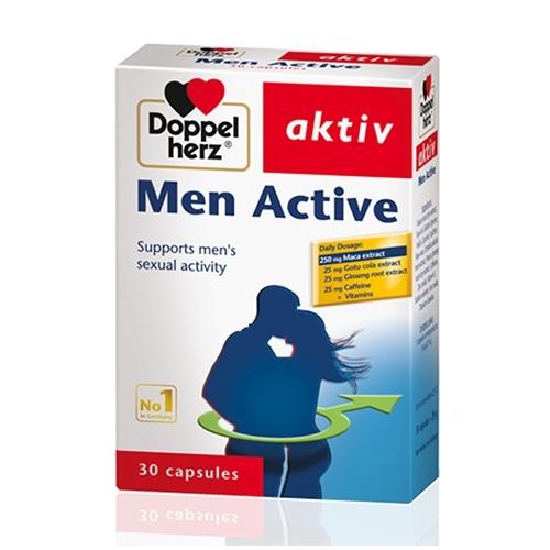 Doppelherz Men Active tăng cường sinh lý nam, Hộp 30 viên
