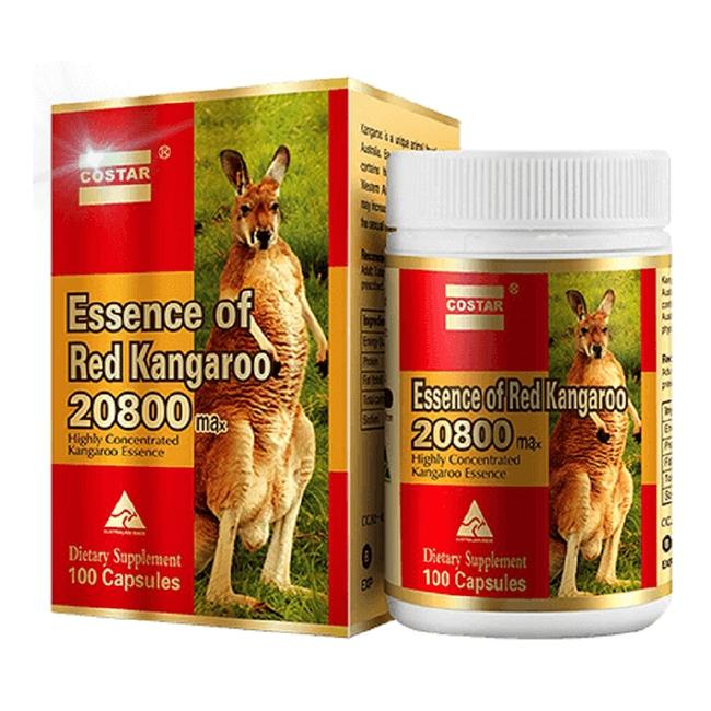 Costar Essence of Red Kangaroo 20800mg tăng cường sinh lý nam, Hộp 100 viên
