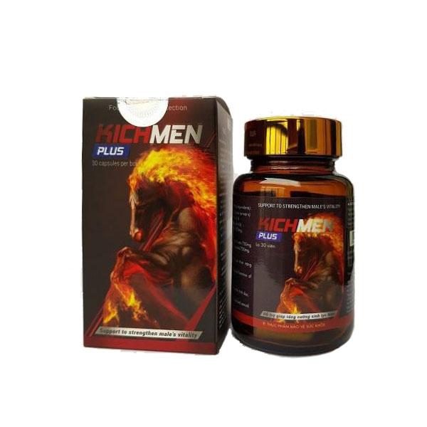 Kichmen Plus tăng cường sinh lý nam, Chai 30 viên