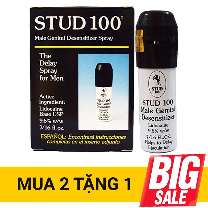 Xịt kéo dài thời gian quan hệ Stud 100, Hộp 12.9ml