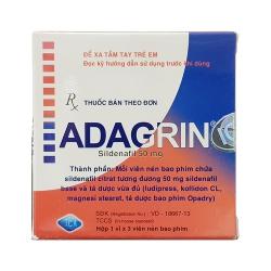 Thảo dược cương dương Adagrin 50mg, Hộp 3 viên