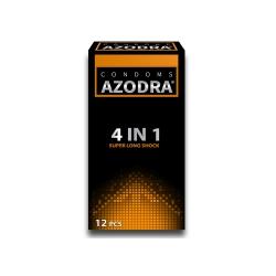 Bao cao su Azodra 4 in 1 Super Long Shock, Hộp 12 cái