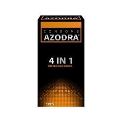 Bao cao su Azodra 4 in 1 Super Long Shock, Hộp 3 cái