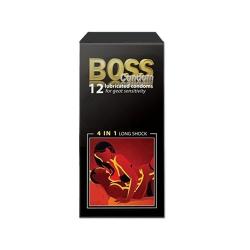 Bao cao su Boss 4 in 1 gân, gai, bôi trơn, kéo dài thời gian, Hộp 12 cái