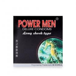 Bao cao su cá ngựa Power Men Long Shock Type tăng khoái cảm, Hộp 3 cái