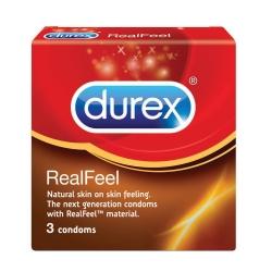 Bao cao su Durex Real Feel kéo dài thời gian quan hệ, Hộp 3 cái