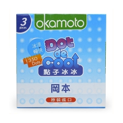 Bao cao su Okamoto Dot De Cool gai lạnh kéo dài thời gian, Hộp 3 cái
