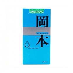 Bao cao su Okamoto Skinless Skin siêu bôi trơn, Hộp 10 cái