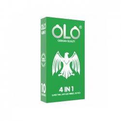 Bao cao su OLO 4 in 1 siêu mỏng, gân gai ôm khít, Hộp 10 cái