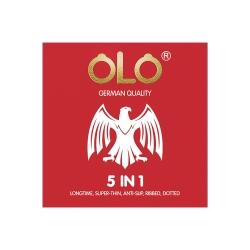 Bao cao su OLO 5 in 1 siêu mỏng, kéo dài thời gian, chống tuột, gân, tăng khoái cảm, Hộp 3 cái