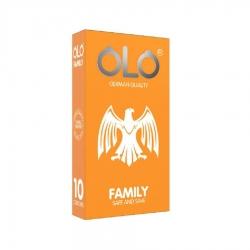 Bao cao su OLO Family cho gia đình, hương bạc hà, gel bôi trơn, Hộp 10 cái