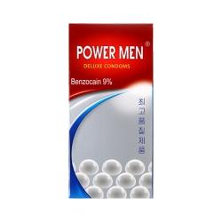 Bao cao su Power Men Benzocain 9% kéo dài thời gian, gai, Hộp 12 cái