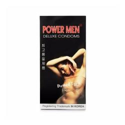 Bao cao su Power Men Dotted Type gai, tăng khoái cảm, Hộp 12 cái
