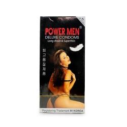 Bao cao su Power Men Long Shock & Super Thin siêu mỏng, kéo dài thời gian, Hộp 12 cái