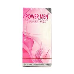Bao cao su Power Men Super Thin Longer siêu mỏng, có gai, Hộp 12 cái
