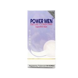 Bao cao su Power Men Superthin Type siêu mỏng, kéo dài thời gian, Hộp 12 cái