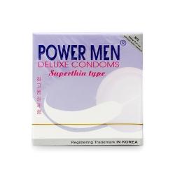 Bao cao su Power Men Superthin Type siêu mỏng, kéo dài thời gian, Hộp 3 cái