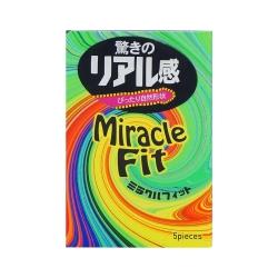 Bao cao su Sagami Miracle Fit ôm khít, tăng khoái cảm, Hộp 5 cái