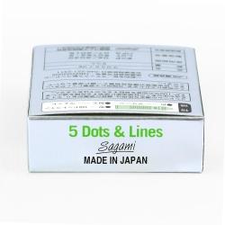 Bao cao su Sagami Type E gân gai, tăng khoái cảm, Hộp 5 cái