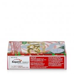 Bao cao su Sagami Xtreme Strawberry hương dâu, Hộp 3 cái