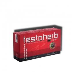 Testoherb 1hour tăng cường sinh lý nam giới, Hộp 2 vỉ 4 viên