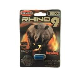 Thảo dược cương dương Rhino 9 Premium 3500, Vỉ 1 viên