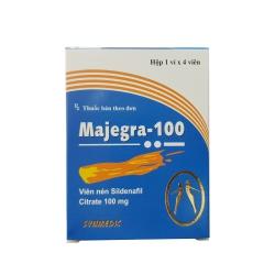 Thảo dược cương dương Majegra 100mg, Hộp 4 viên