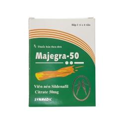 Thảo dược cương dương Majegra 50mg, Hộp 4 viên
