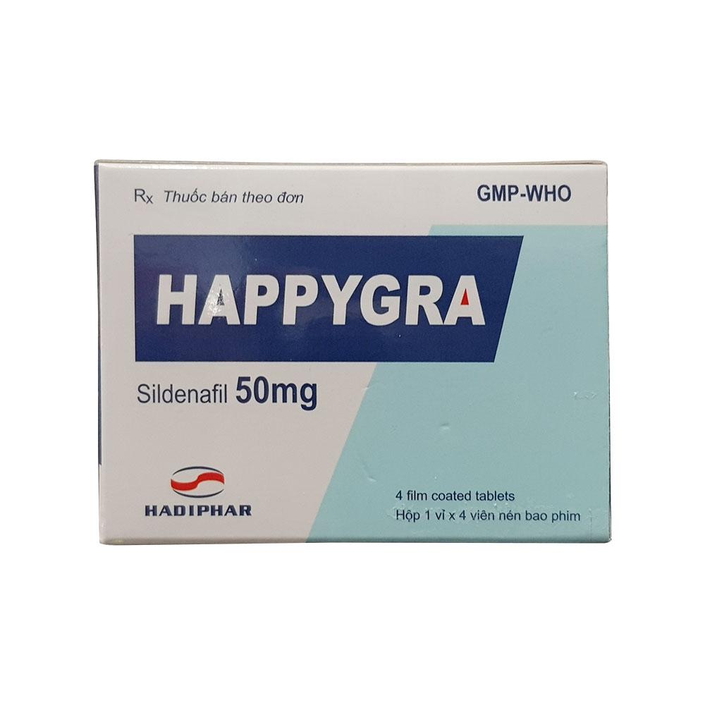 Thảo dược cương dương Happygra 50mg, Hộp 4 viên