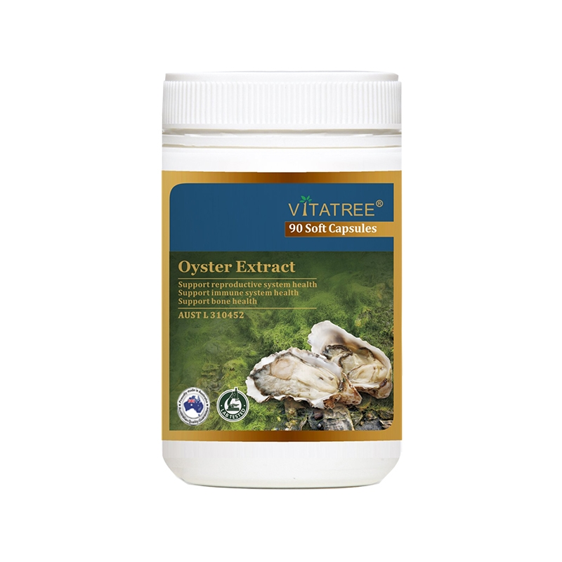 Tinh chất hàu Vitatree Oyster Extract tăng cường sinh lý nam, Chai 90 viên